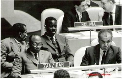 Waziri Mkuu wa Zanzibar Ndugu Mohammed Shamte, akiwa kwenye mkutano wa Umoja wa Mataifa, 1963