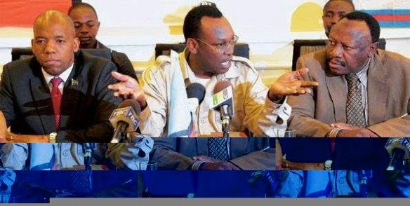 Profesa Ibrahimu Lipumba (CUF), Freeman Mbowe (Chadema), James Mbatia (NCCR- Mageuzi)