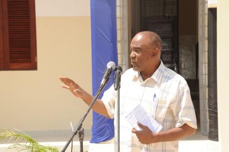 Katibu Mkuu Wizara ya Afya Dr. Mohamed Saleh Jidawi, akizungumza wakati wa ufunguzi wa kitengo cha wagonjwa mahututi (ICU), katika hospitali ya Mnazi Mmoja