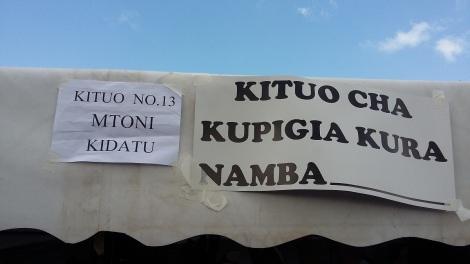 Hichi ndicho kituo ambacho Maalim Seif amepiga kura. (Picha na OMKR)