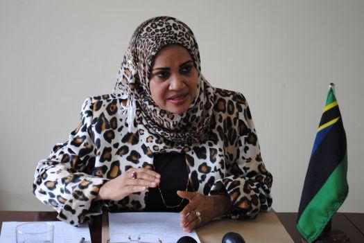 Aliyekuwa Waziri wa Nchi, Ofisi ya Makamu wa Kwanza wa Rais Fatma Abdulhabib Fereji