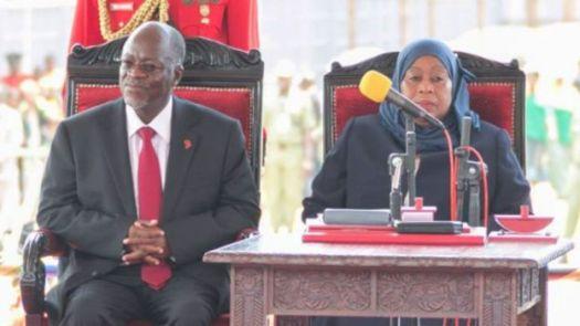Rais wa Tanzania Dk John Magufuli na Makamo wake Samia Suluhu