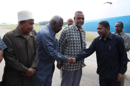 Baadhi ya viongozi wa juu wa serikali ya umoja wa kitaifa ya Zanzibar